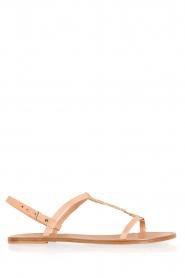 Hoss Intropia | Leren sandaal Roelie | nude  | Afbeelding 1