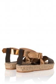 Hoss Intropia | Leren sandaal Kayleight | zwart-goud  | Afbeelding 4