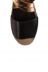 Hoss Intropia | Leren sandaal Kayleight | zwart-goud  | Afbeelding 5