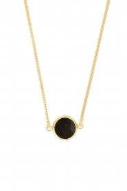 Mimi et Toi |  18k gold plated necklace Round Resin | gold  | Picture 1