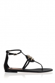 ELISABETTA FRANCHI |  Leather sandals Elina | Black  | Picture 1
