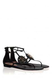 ELISABETTA FRANCHI |  Leather sandals Elina | Black  | Picture 3