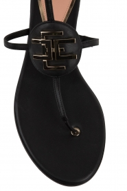 ELISABETTA FRANCHI |  Leather sandals Elina | Black  | Picture 5