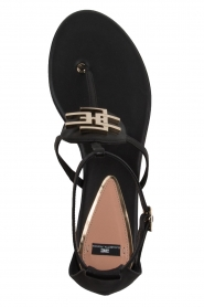 ELISABETTA FRANCHI |  Leather sandals Elina | Black  | Picture 6