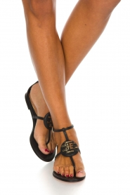ELISABETTA FRANCHI |  Leather sandals Elina | Black  | Picture 2