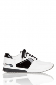 Leather sneakers Allie | black&white