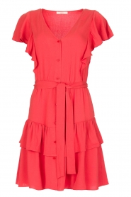 Sessun |  Dress with ruffles Mocinno | red  | Picture 1