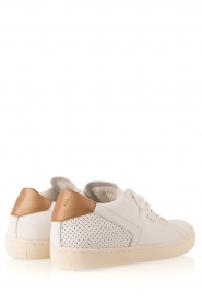 Leather Crown | Leren sneakers Donna | wit  | Afbeelding 4