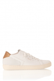 Leather Crown | Leren sneakers Donna | wit  | Afbeelding 1
