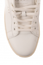 Leather Crown | Leren sneakers Donna | wit  | Afbeelding 5