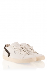 Leather Crown | Leren sneakers Donna | wit  | Afbeelding 3