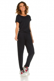 Hanro |  Jumpsuit with waistband Marit | black  | Picture 2