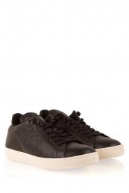 Leather Crown | Leren sneakers Dory | zwart  | Afbeelding 3