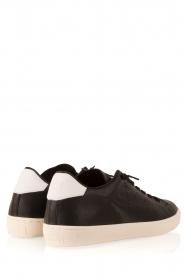 Leather Crown | Leren sneakers Dory | zwart  | Afbeelding 4