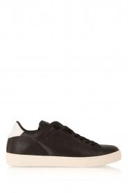 Leather Crown | Leren sneakers Dory | zwart  | Afbeelding 1