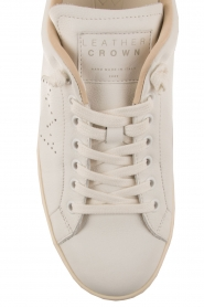 Leather Crown | Leren sneakers Diana | wit  | Afbeelding 5
