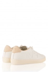 Leather Crown | Leren sneakers Diana | wit  | Afbeelding 4