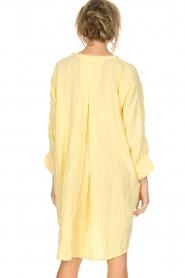 Rabens Saloner | 100% katoenen jurk Olivia | geel  | Afbeelding 6