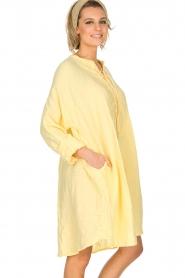 Rabens Saloner | 100% katoenen jurk Olivia | geel  | Afbeelding 5