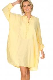 Rabens Saloner | 100% katoenen jurk Olivia | geel  | Afbeelding 2