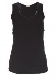 Hanro | Mouwloze top Leira | zwart  | Afbeelding 1
