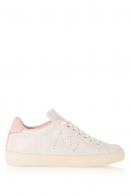 Leather Crown | Leren sneakers Diana | wit  | Afbeelding 1