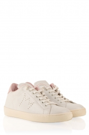 Leather Crown | Leren sneakers Diana | wit  | Afbeelding 3