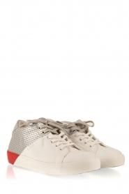 Leather Crown | Leren sneakers Donna | multi  | Afbeelding 3
