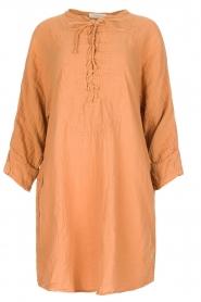 Rabens Saloner | 100% katoenen jurk Olivia | Roestbruin  | Afbeelding 1