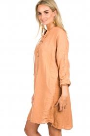 Rabens Saloner | 100% katoenen jurk Olivia | Roestbruin  | Afbeelding 4