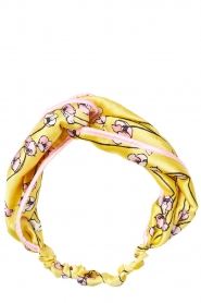 Becksöndergaard |  Printed satin bandeau headband Shelby | yellow  | Picture 1