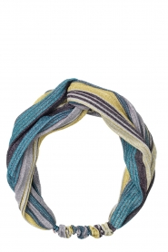 Becksöndergaard |  Striped headband Glittery | green   | Picture 1