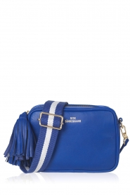 Becksöndergaard |  Leather shoulder bag Lullo Rua | blue  | Picture 1