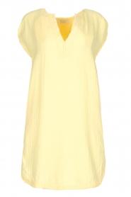 Rabens Saloner | 100% katoenen jurk Olga | Geel  | Afbeelding 1