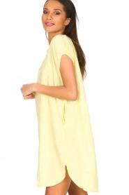 Rabens Saloner | 100% katoenen jurk Olga | Geel  | Afbeelding 4
