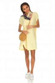 Rabens Saloner | 100% katoenen jurk Olga | Geel  | Afbeelding 3