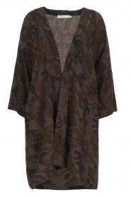 Rabens Saloner | Kimono Aaf | bruin  | Afbeelding 1