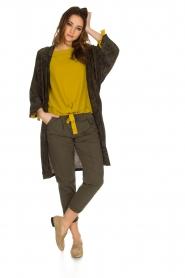 Rabens Saloner | Kimono Aaf | bruin  | Afbeelding 3