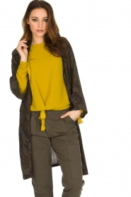 Rabens Saloner | Kimono Aaf | bruin  | Afbeelding 4