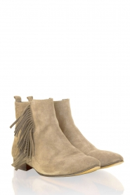 Suede ankle boot May | brown