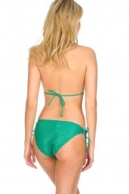 Becksöndergaard |  Polkadot triangle bikini Belina Lena | green  | Picture 4