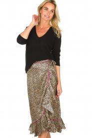 Becksöndergaard |  Leopard printed midi skirt Calista Demi | animal print  | Picture 2