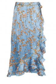 Floral midi skirt Calista Shelby | blue