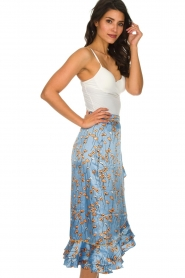Becksöndergaard |  Floral midi skirt Calista Shelby | blue  | Picture 4