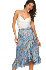 Becksöndergaard |  Floral midi skirt Calista Shelby | blue  | Picture 3