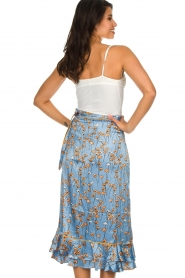Becksöndergaard |  Floral midi skirt Calista Shelby | blue  | Picture 5