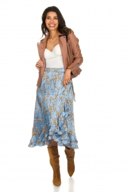 Becksöndergaard |  Floral midi skirt Calista Shelby | blue  | Picture 2
