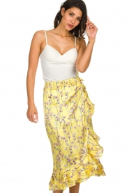 Becksöndergaard |  Floral midi skirt Shelby | yellow  | Picture 3