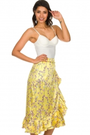 Becksöndergaard |  Floral midi skirt Shelby | yellow  | Picture 4