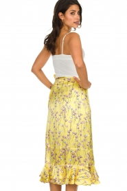Becksöndergaard |  Floral midi skirt Shelby | yellow  | Picture 5